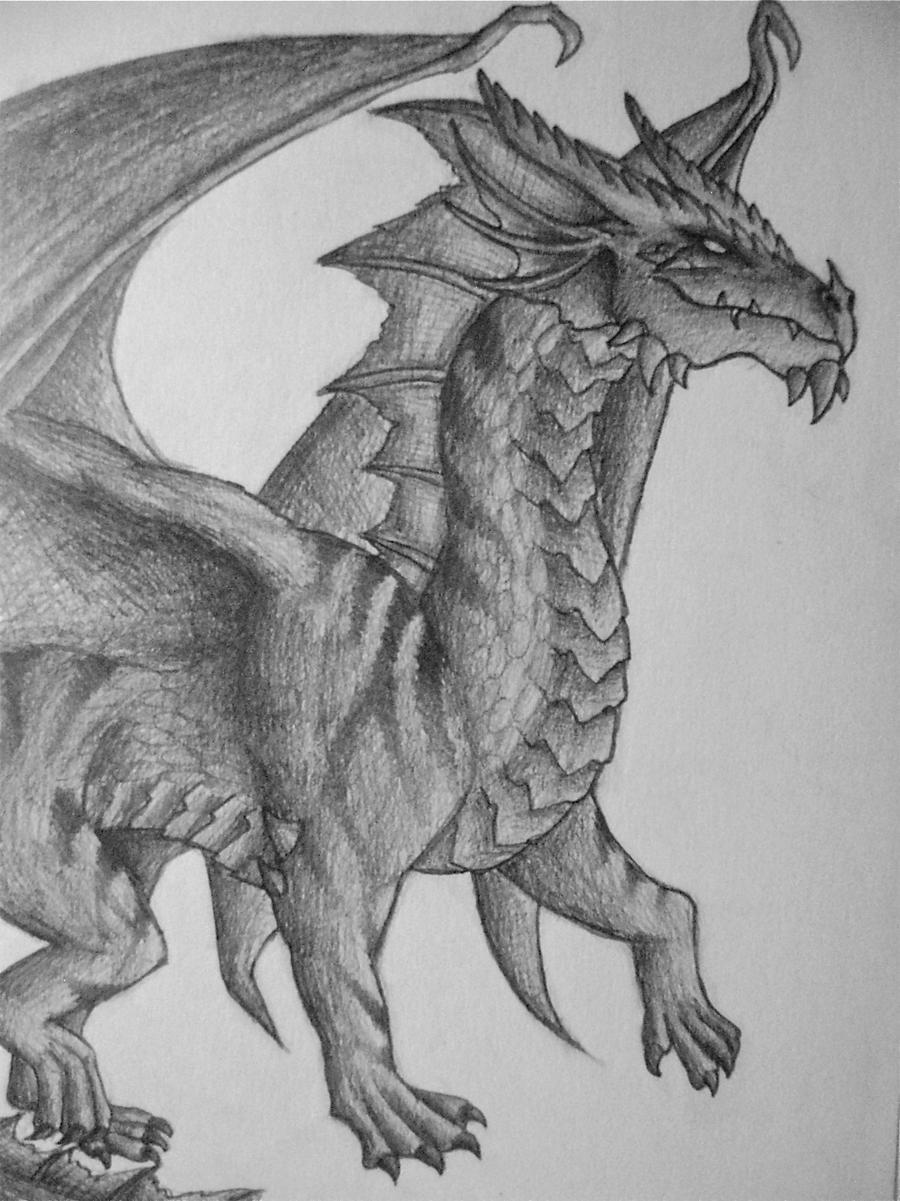 Evil-Looking Dragon by PF-Megara on deviantART