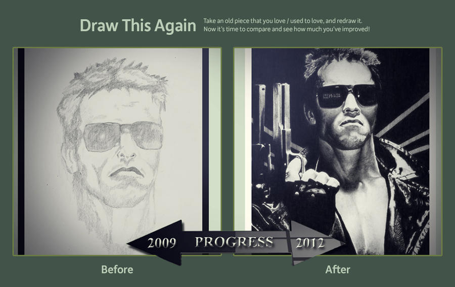 Draw This Again - Terminator 2009 Vs 2012 by lPinhead