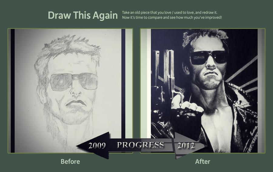 Draw This Again - Terminator 2009 Vs 2012 by lPinhead