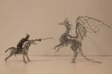 Wire Dragon + Knight model