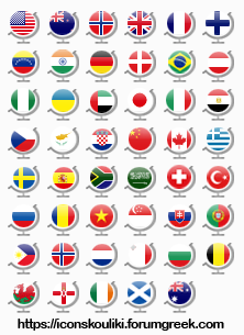 Country flags by IconSkoulikiGraphics