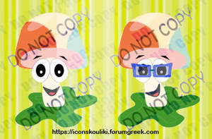 Mushroom mascot by IconSkoulikiGraphics