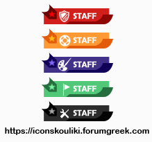Modern staff ranks by IconSkoulikiGraphics