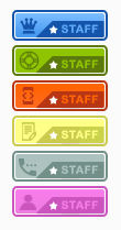 Colorful staff ranks