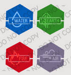 4 elements avatar by IconSkoulikiGraphics