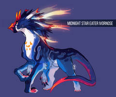 Midnight Star Eater Ivornose AUCTION (CLOSED) by Tokyozilla