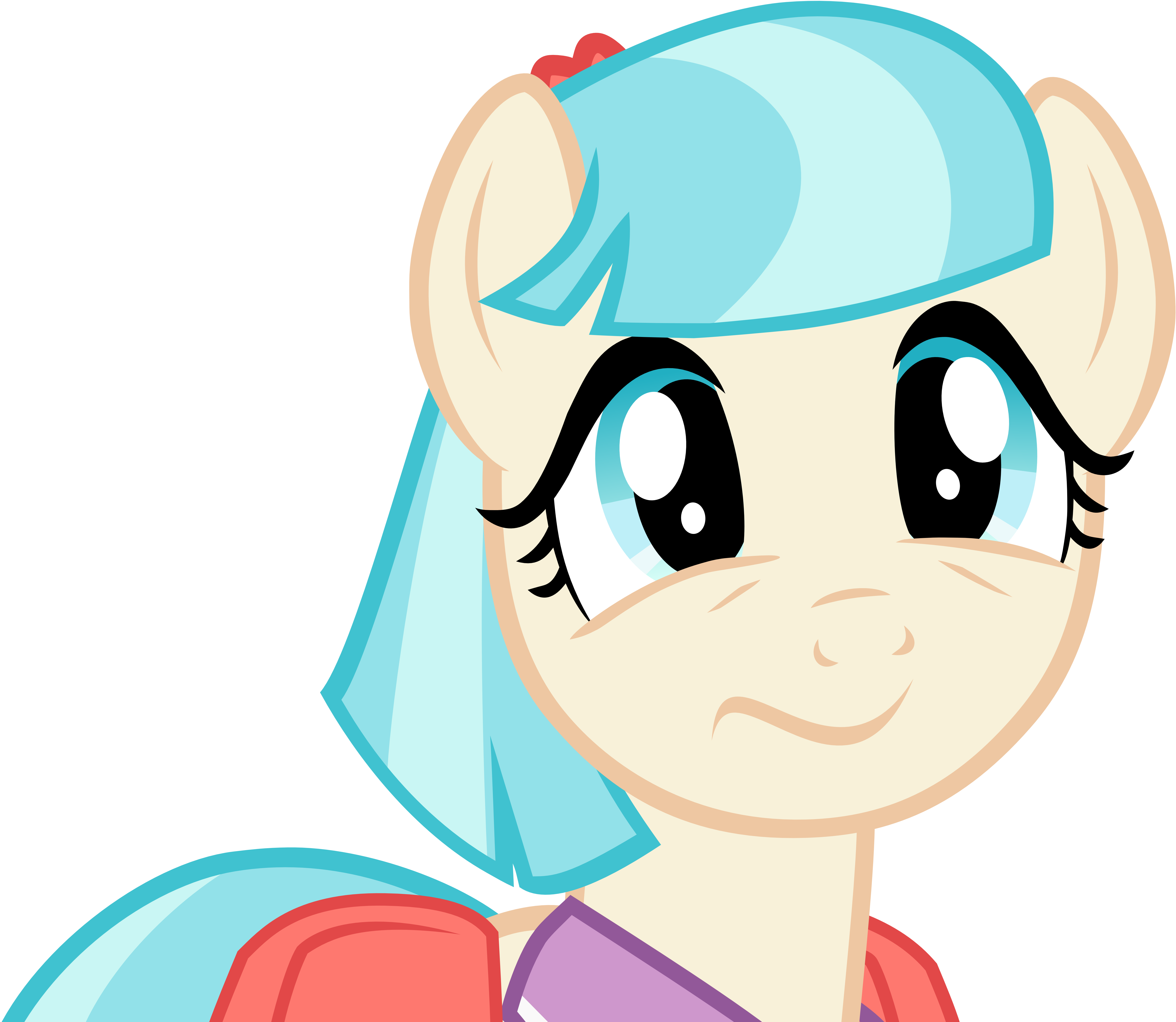 Coco Pommel's face of awkwardness