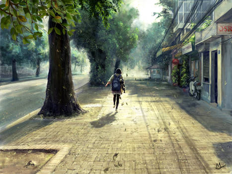 Deserted street