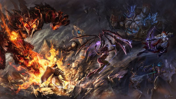 On Fire - battle at Sky temple