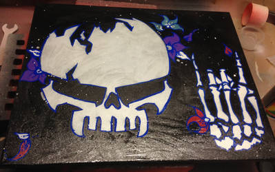 YEAH Skull flower by Megapoires