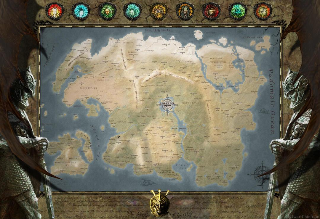 Tamriel Map  [The Elder Scrolls Universe] by DwarfChieftain
