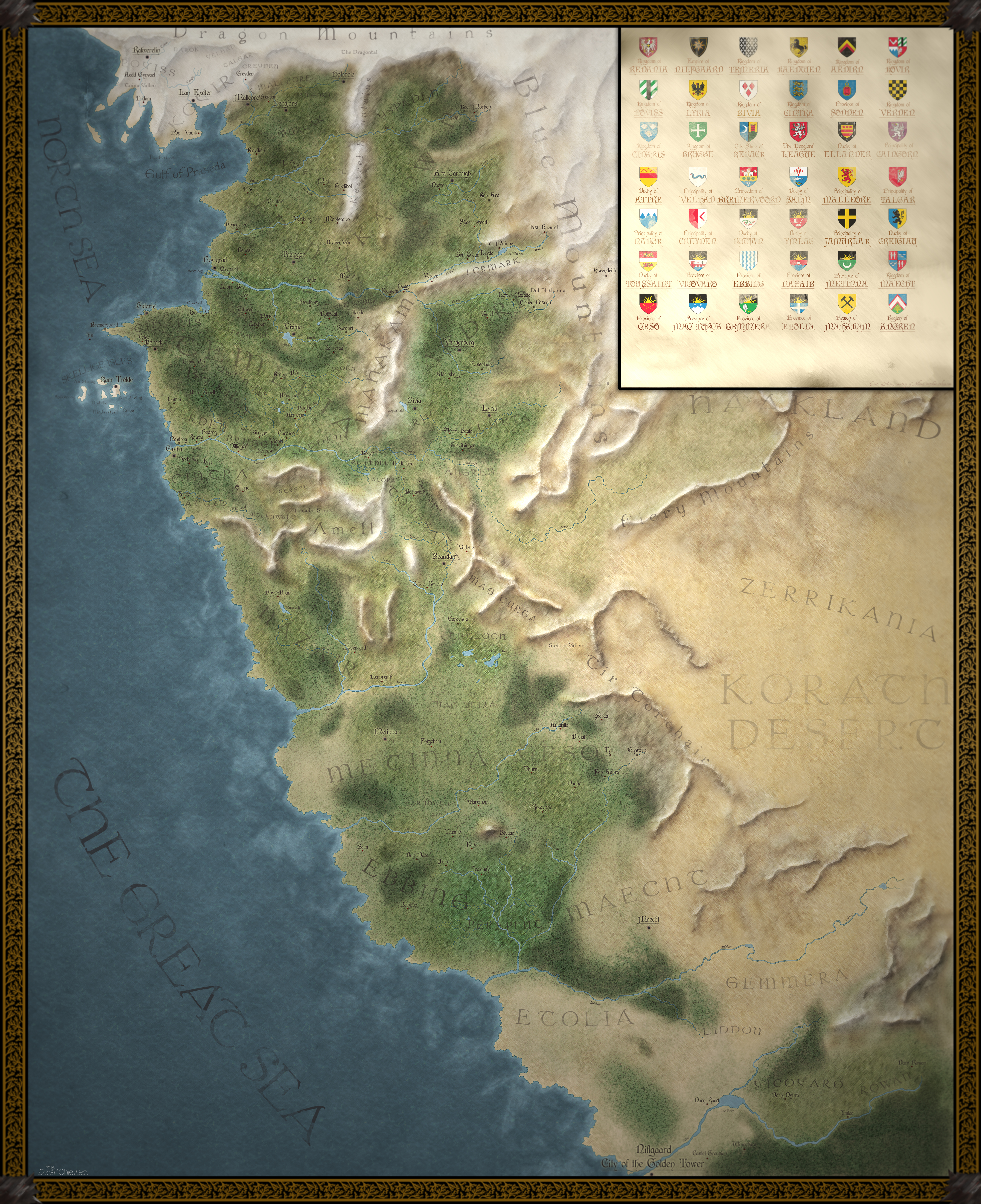 The Witcher World Map by MartynasB on DeviantArt