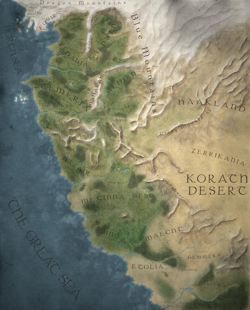 The Witcher World Map - Easy Reading version by MartynasB