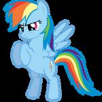 Rainbow Dash put 'em up