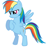 Rainbow Dash put 'em up