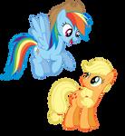 Rainbow dash takes Applejacks hat