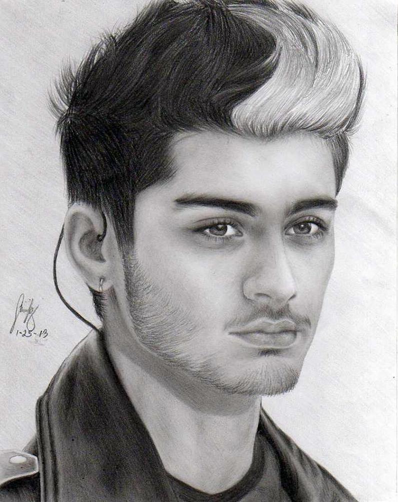ZAYN MALIK by minickart on DeviantArt Zayn Malik Drawing Of Justin Bieber