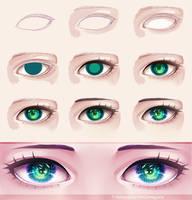 Eye - step by step 10 by TiaMadVoice