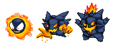 Alola form Ghastly, Haunter and Gengar by gozerth23 on DeviantArt