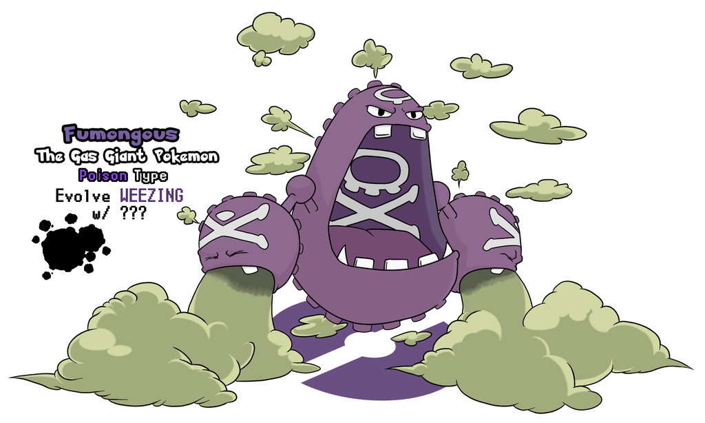 Weezing Evolution- Fumongous by DubiousDerringer on DeviantArt