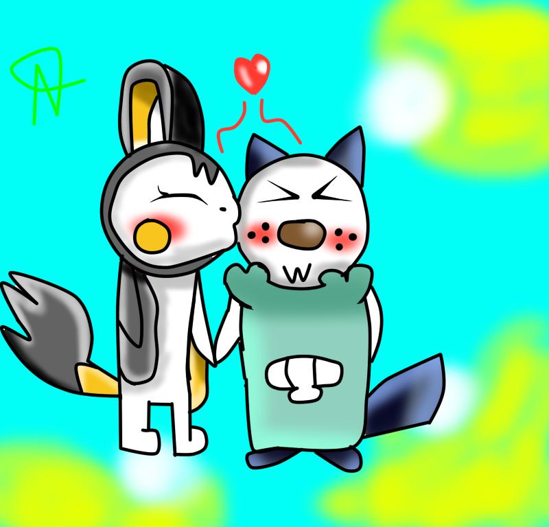 Pokemon Oshawott X Emolga Kissing Images | Pokemon Images