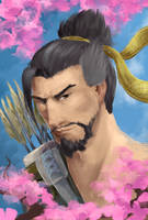 Hanzo Shimada by blueberry-jam1