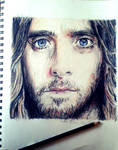 Jared Leto Color Pencil Drawing