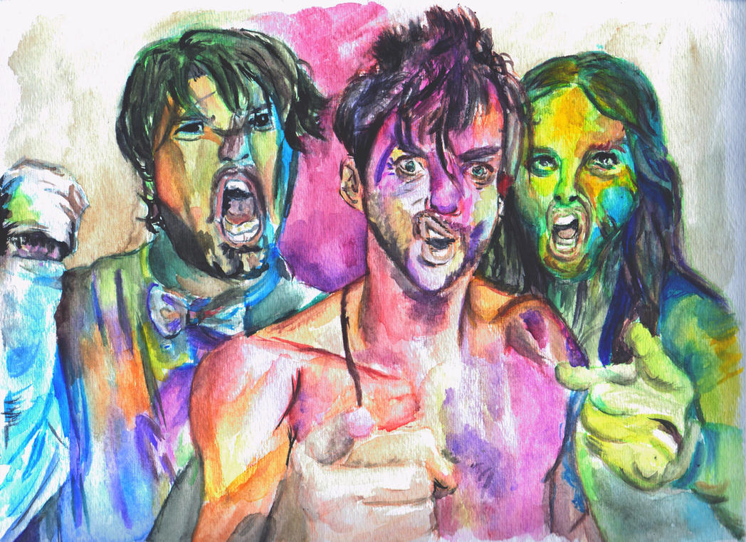30 Seconds to Mars Watercolor by Qtfiddler