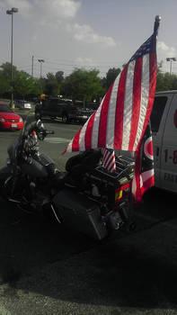 A Bike and a Flag