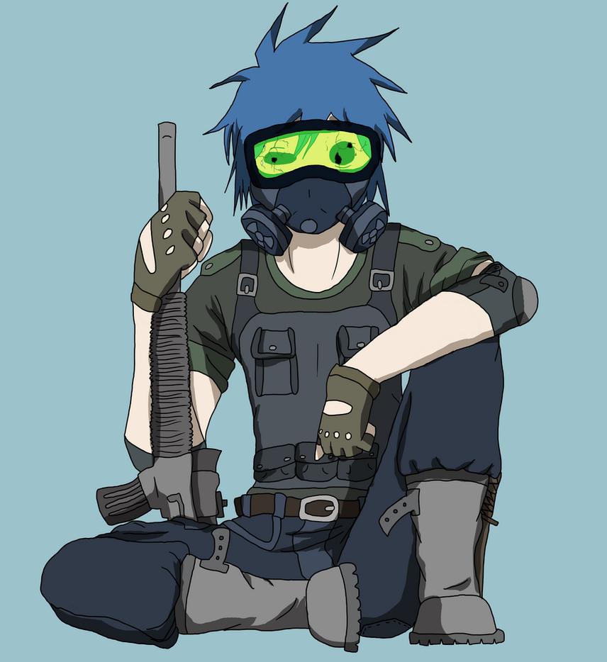 Anime Character 2d : D soldier by aniitaruiz on deviantart