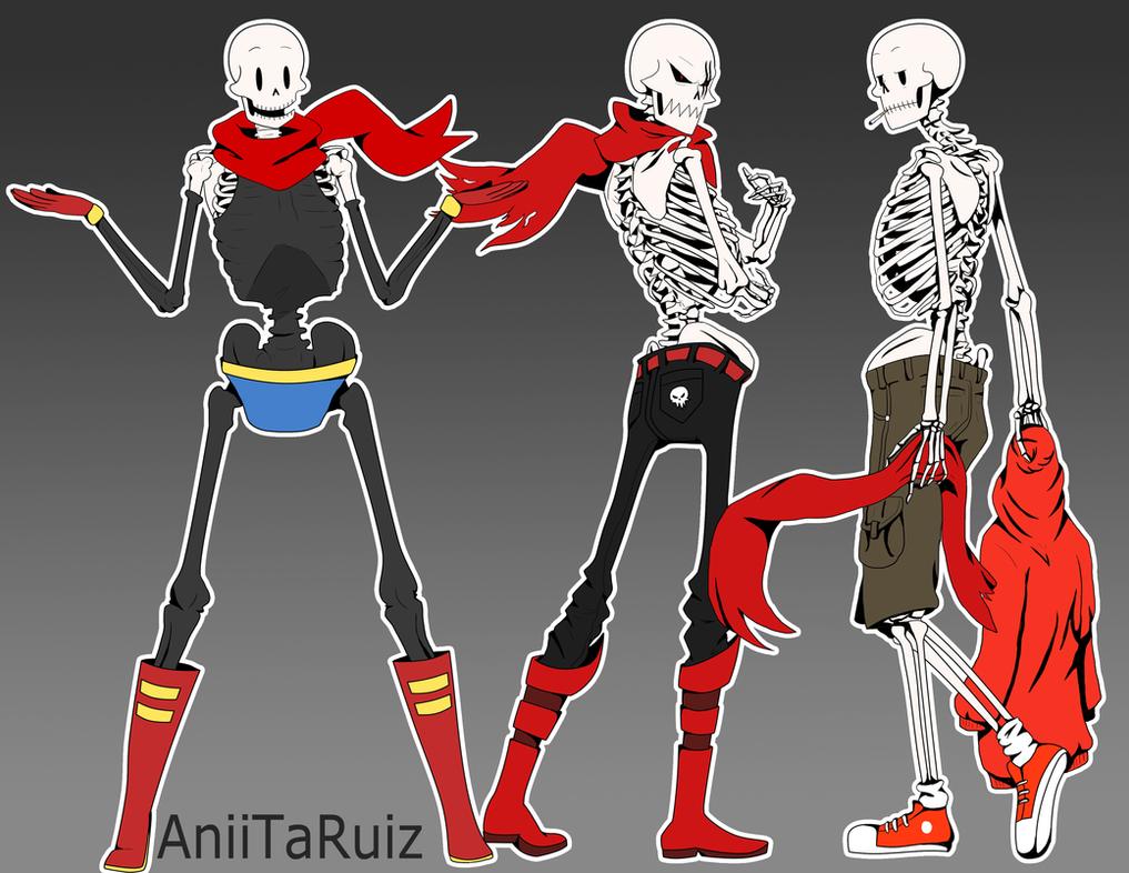 Sexy skeleton papyruss by aniitaruiz