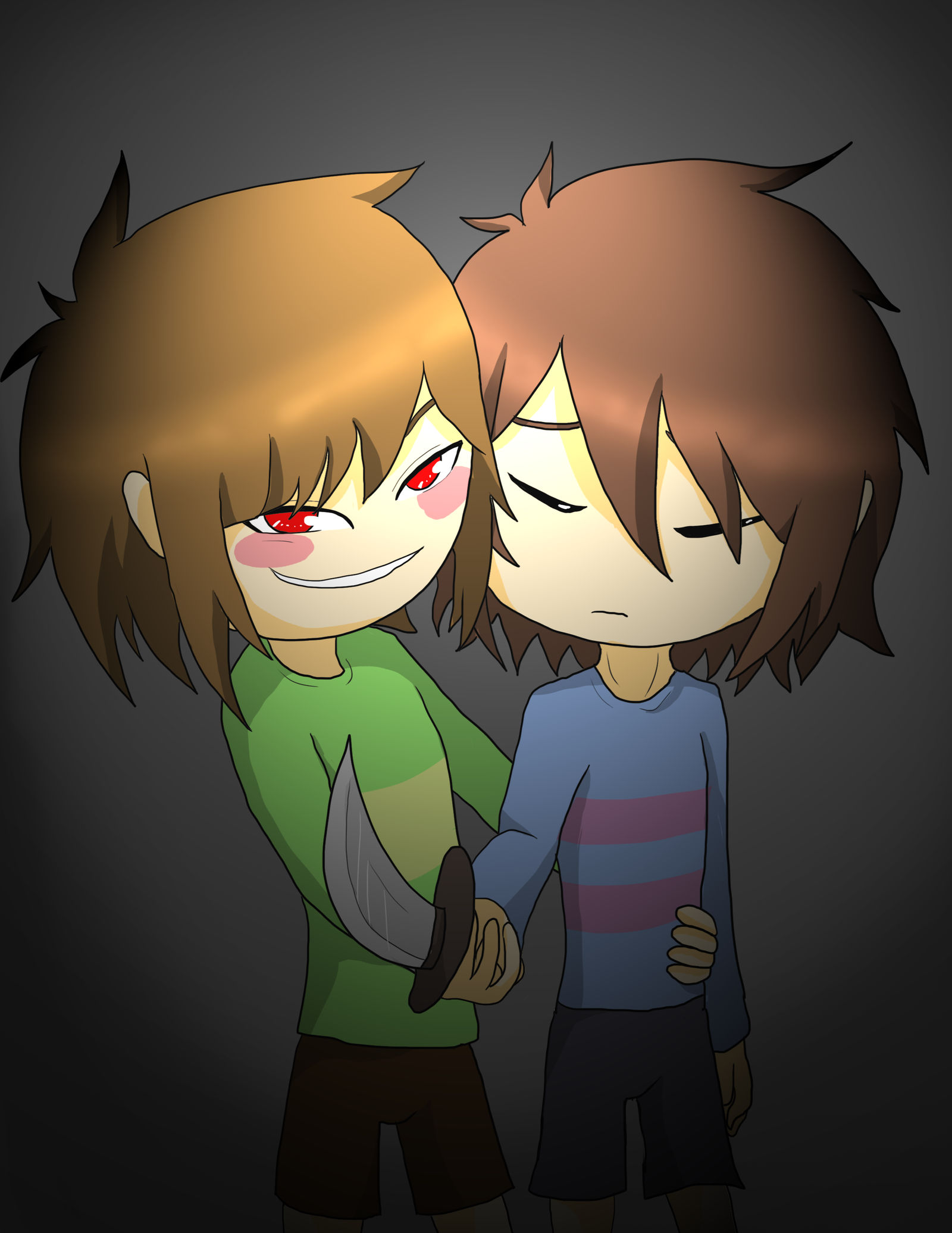 Chara And Frisk by ellie201x on DeviantArt