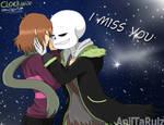 Clockwise - Sans x Frisk - i miss you by AniiTaRuiz