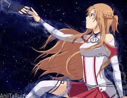 Asuna - the starry Night by AniiTaRuiz