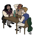 Grantaire, Joly and Bossuet
