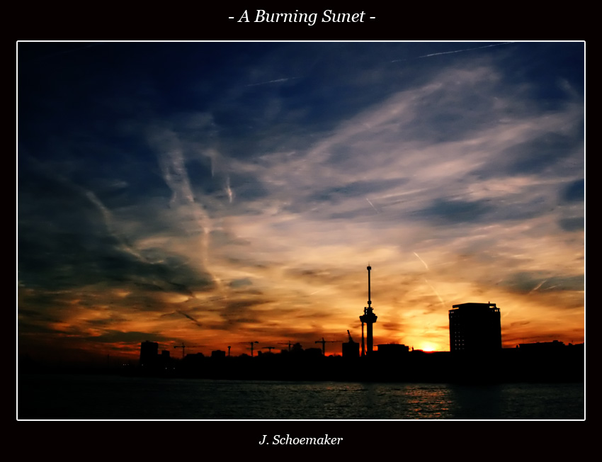 A burning sunset by Jna1985