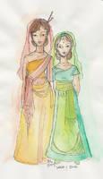 Dove and Sarai by happineff