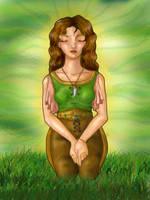 Daine Meditating by happineff