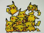 Perler Bead Art: Pikachu Pile