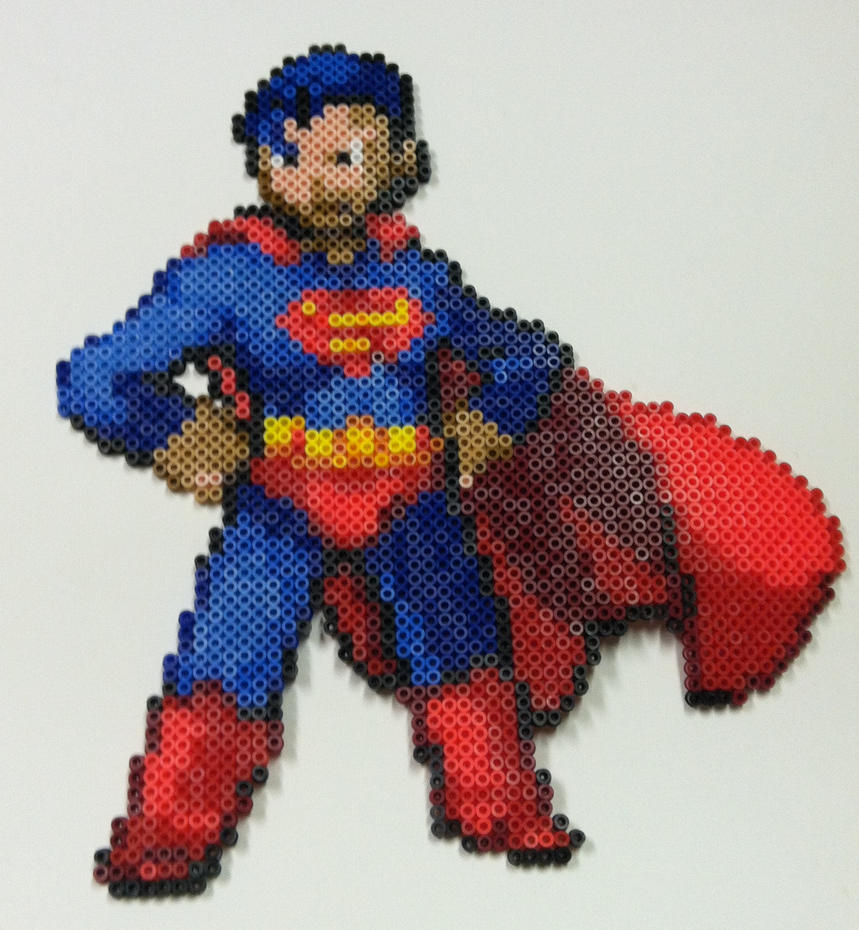Perler Bead: Superman by thewiredslain