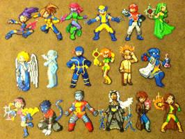 Perler Bead: X-Men by thewiredslain