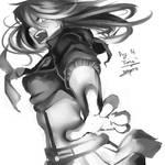Inktober Day 14 - Fierce ft. Ryuko by Viral-Zone