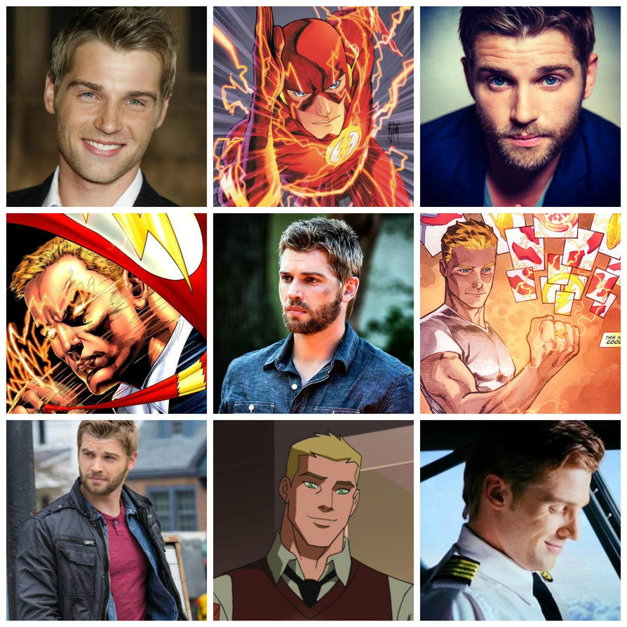 Mike Vogel as Barry Allen/ The Flash by Roxy734