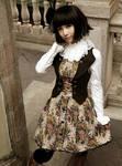 Infanta Victoria Lace Up Button Lolita Dress