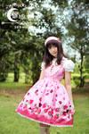 White moon pink alice sweetheart Lolita Dress
