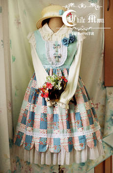White moon summer coutry style lolita dress