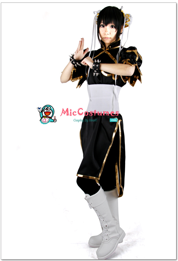 Street Fighter Chun Li Black Cosplay Costume by miccostumes