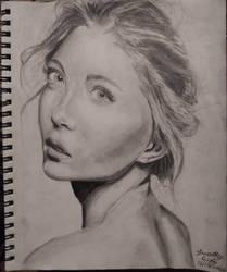 longing, a pencil portrait