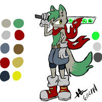 Sonic style wolf boy adoptable (OPEN)