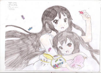 Mio and Azusa- colored